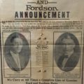 Advertisement announcing creation of Rice-Jones Motor Company